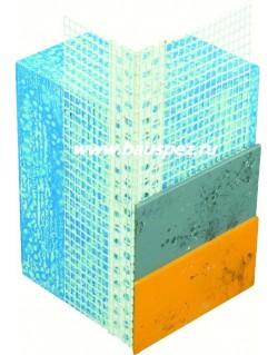 профиль пвх угловой с армирующей сеткой 10х15 2,5 м