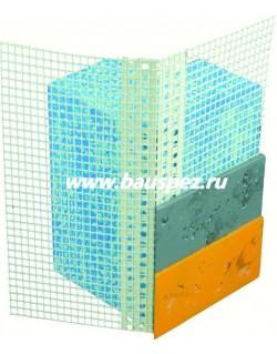 профиль пвх угловой рулонный с армирующей сеткой 25 м