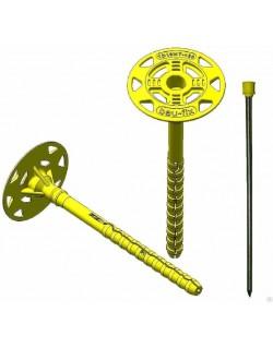 дюбель для теплоизоляции бау-фикс с термоголовкой td10mt-180 (10x180 мм)