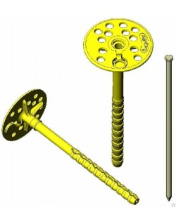 дюбель для теплоизоляции бау-фикс метал. гвоздь tdz10m-200 (10x200 мм)