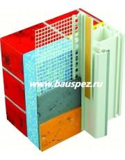Профиль ПВХ примыкающий оконный с армирующей сеткой 6 мм 2,4 м